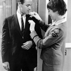 "Jack Lemmon (left) and Shirley MacLaine (right) starred in the 1960 romantic comedy ""The Apartment,"" which won five Oscars® including Best Picture."