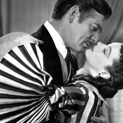 "Clark Gable and Vivien Leigh in ""Gone with the Wind"""
